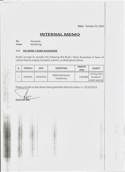 internal memo format letter