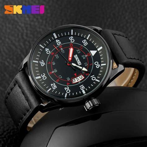 skmei jam tangan analog pria 9113cl black black jakartanotebook