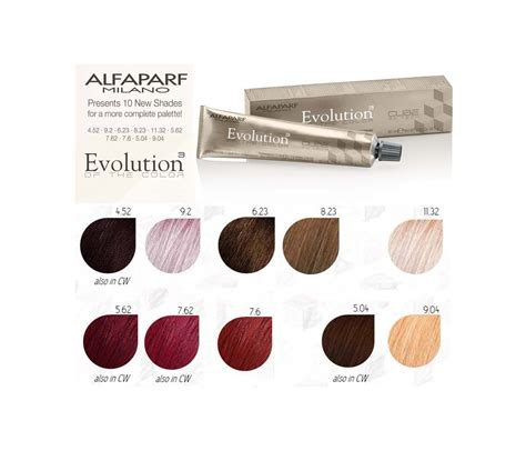 color evolution alfaparf evolution of the color 10 new shades for a more