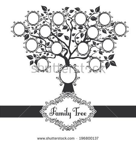 Family Tree Stock Photos Images Pictures Shutterstock Family Tree Template Vintage Vector Illustration Stock Vector 397284052
