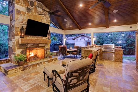 Home Addition Design Program outdoor living in briar forest area texas custom patios