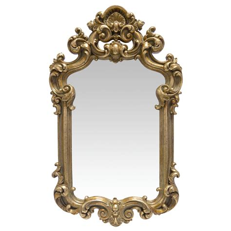 baroque home decor beautiful gold framed mirror with extravagant decoration