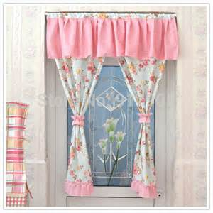 Pink Kitchen Curtains Pink Print Curtains Designer Rustic Vintage Floral Sheer Curtains Gingham