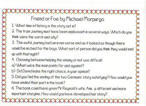 Friend Or Foe Book Report by Friend Or Foe Book Report