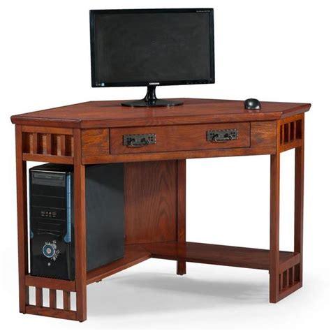 Mission Oak Corner Laptop Desk 16447097 Overstock Com Oak Corner Desks