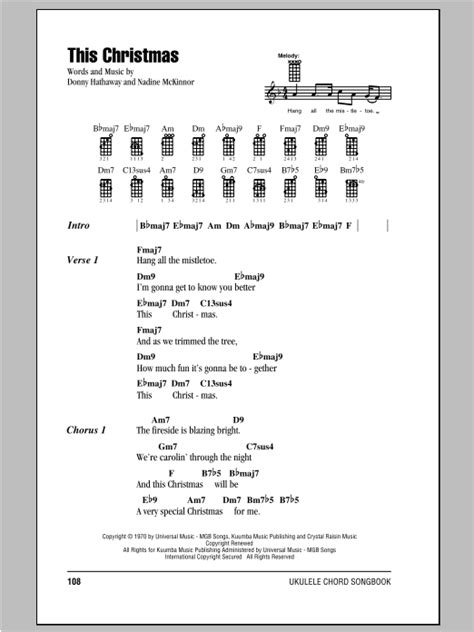 little pattern rockeye lyrics this christmas sheet music by donny hathaway ukulele with