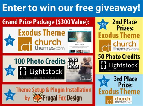 Free Website Giveaway - church website tool giveaway church wordpress