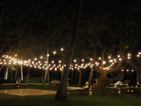 Outdoor Bistro Lights Finishing Touch 183 Hawaii Wedding Design Coordination