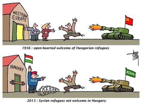 political cartoons syrian refugees hungary 169 arend van dam politicalcartoons com hungary