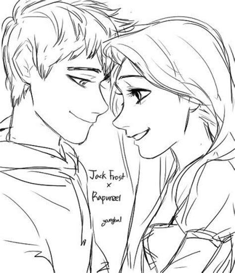 imagenes de jack frost para dibujar jack frost and rapunzel dibujos pinterest