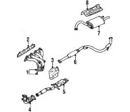 Exhaust System Parts Diagram Parts 174 Mitsubishi Galant Exhaust Components Oem Parts