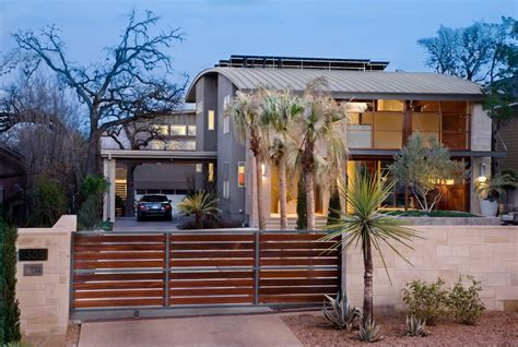 wooden gates designs Exterior Contemporary with covered