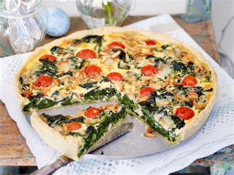 was koche ich heute quiches spinach and food