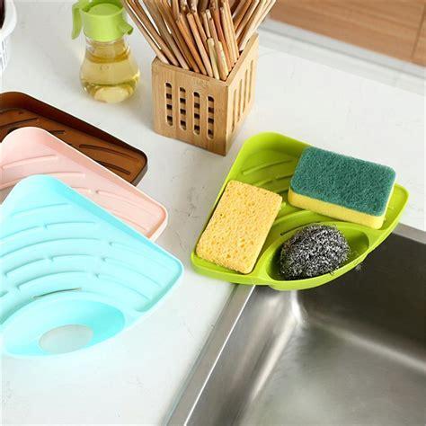 Wall Mounted Suction Sink Holder Sponge Organizer Kitchen