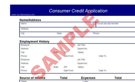 Consumer Credit Application Form Consumer Credit Application Business Forms Accounts Finance Sa Business Hub