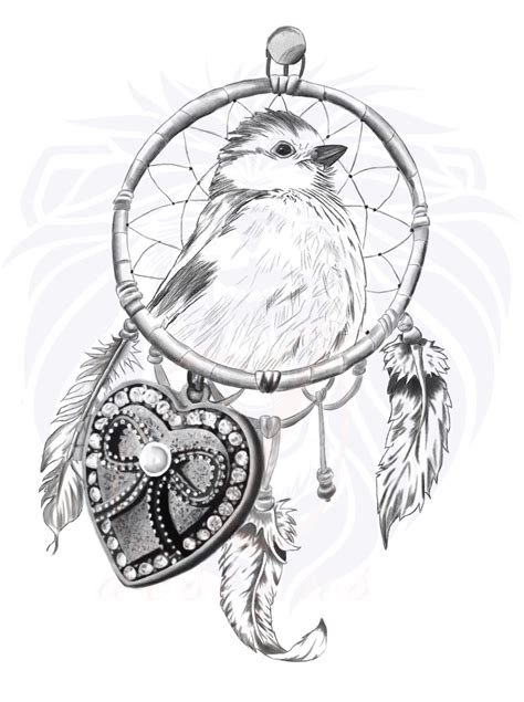 design dream birds tattoo design dreamcatcher of freedom by ddesigns0 on