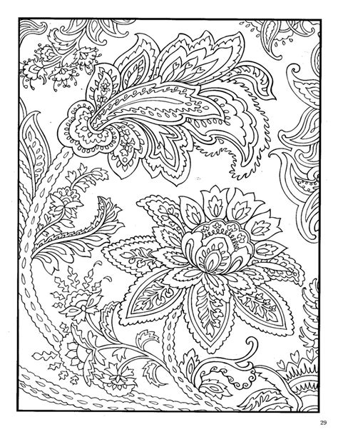 coloring book designs dover paisley designs coloring book coloring pages
