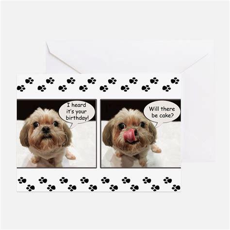 Shih Tzu Birthday Card Shih Tzu Birthday Greeting Cards Card Ideas Sayings