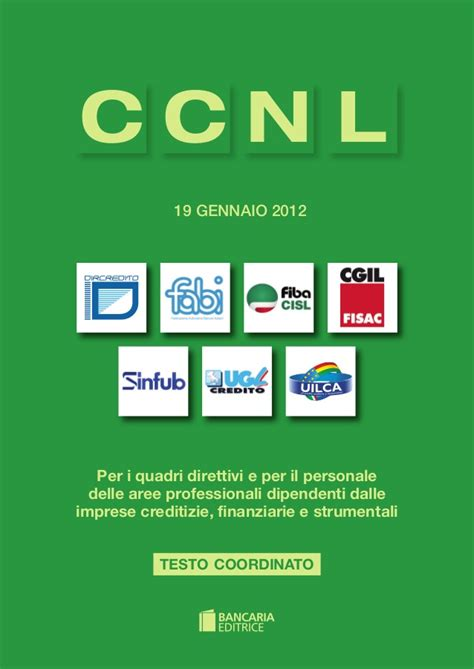 nazionale lavoro abi ccnl abi 19 gennaio 2012