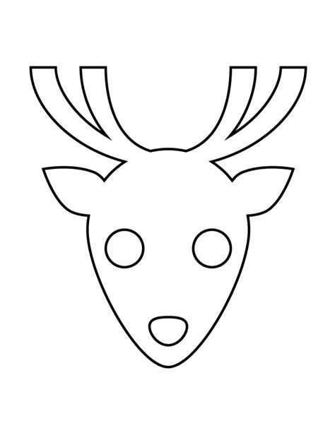 reindeer head stencil h m coloring pages