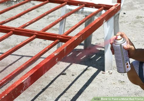 Painting A Metal Bed Frame How To Paint A Metal Bed Frame With Pictures Wikihow