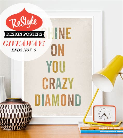 Poster Giveaway - restyle poster print giveaway ended veda house veda house
