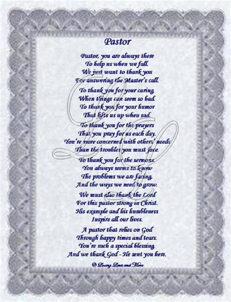 Pastor Birthday Quotes Pastor Or Minister Poem