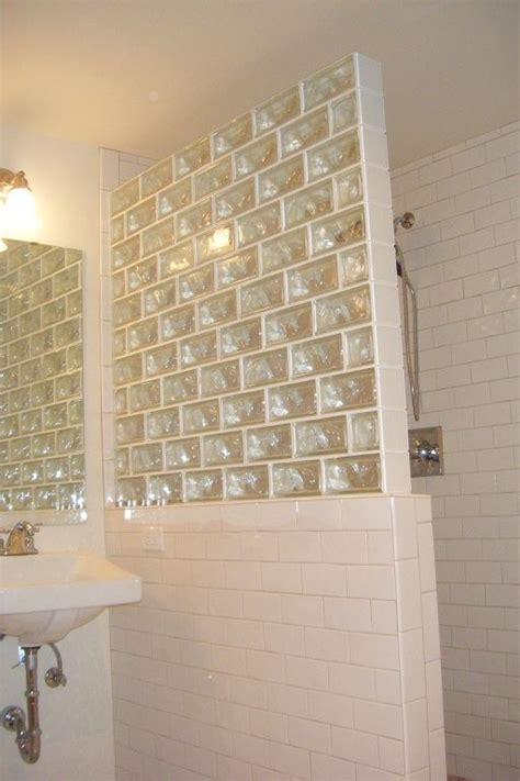 bathtub half glass panel subway glass brick google search bathroom pinterest