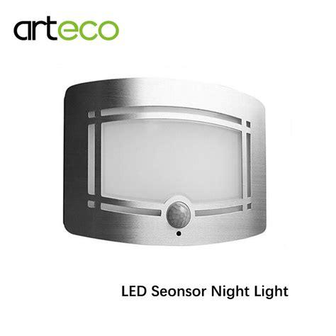 battery powered led sensor night light pir motion sensor