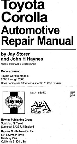 car repair manuals online free 2003 toyota corolla navigation system haynes manual toyota corolla 2003 2008 pdf eng download