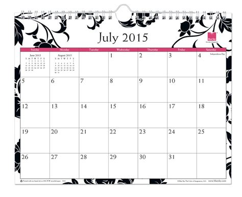 printable weekly calendar july 2015 to organize roommate schedules matches color theme too