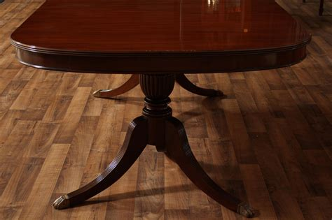 duncan phyfe dining room table mahogany dining room table with leaves seats 12 14 people