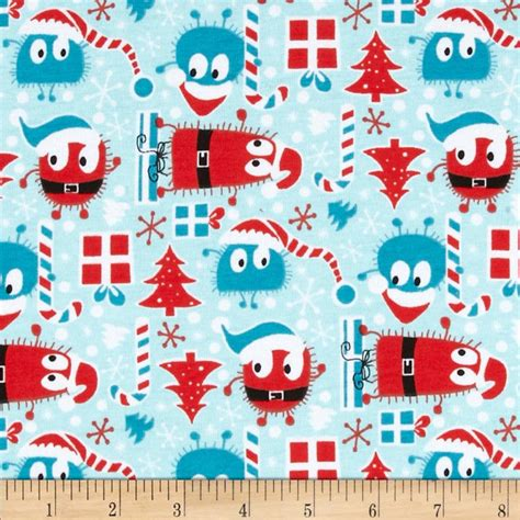 christmas pattern knit fabric christmas ooga boogas stretch cotton jersey knit red blue