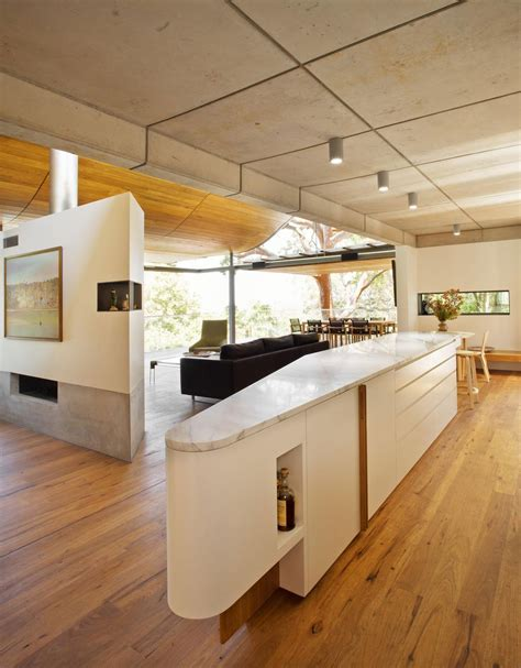 home design kitchen upstairs wave ceiling upstairs boulder wall downstairs modern house designs