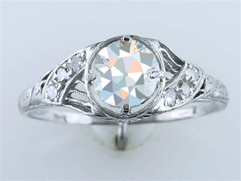 vintage antique 1 05ct platinum deco
