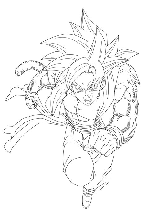 goku ss4 coloring pages gogeta ss4 by brigittemx on deviantart