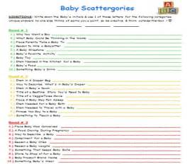 quot baby scattergories quot baby shower scattergories is