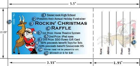 picture of christmas raffle ticket new calendar template
