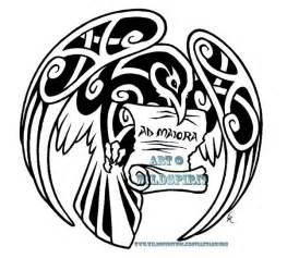ad maiora celtic raven tattoo by wildspiritwolf on deviantart