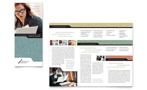 accounting flyer templates bookkeeping accounting services tri fold brochure