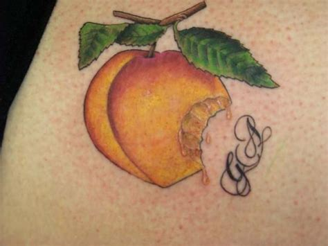georgia peach tattoo peach tattoo ink ideas