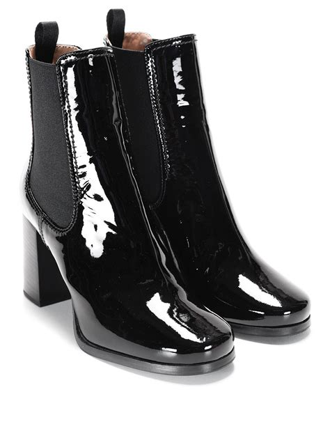 patent leather ankle boots by car shoe ankle boots ikrix
