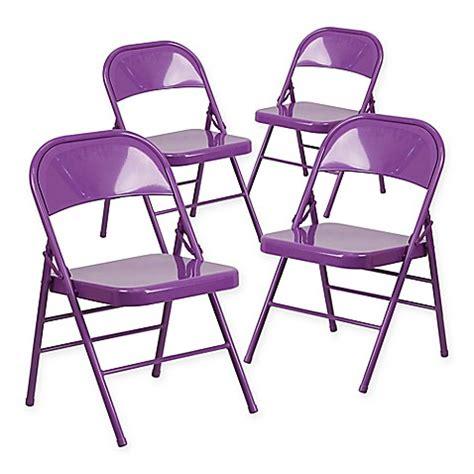 purple metal folding chairs buy flash furniture hercules metal 4 pack folding chairs