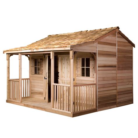 outdoor sheds shop cedarshed ranchhouse gable cedar storage shed common