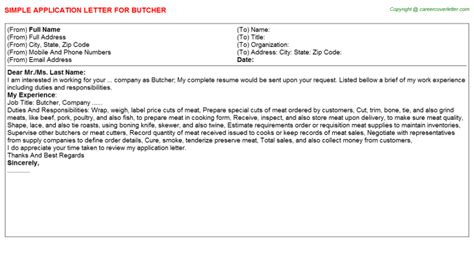 butcher cover letter butcher title docs