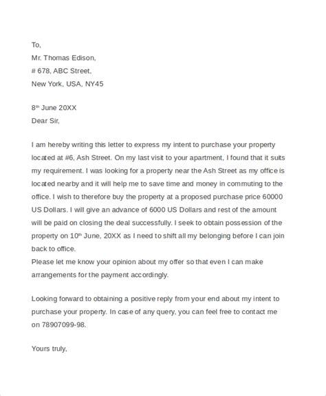 sample real estate offer letter templates
