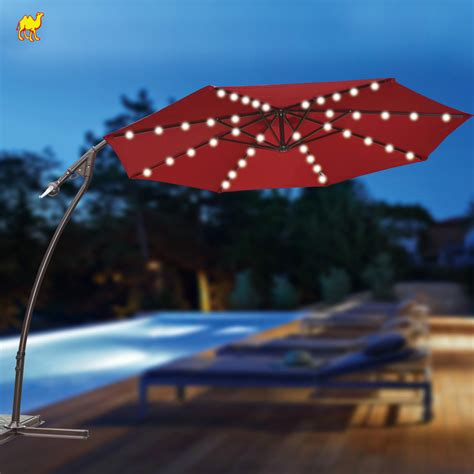 Solar Power Decorations by Solar Powered Led Lights For Patio Umbrella Patio Design