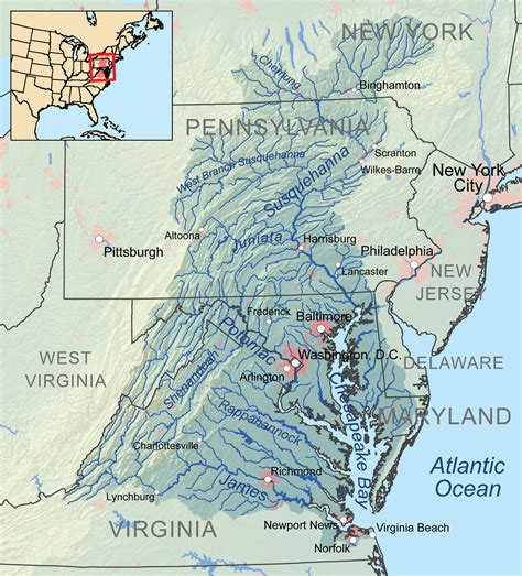 maryland bay map agriculture water connects us all