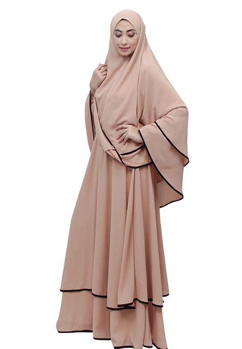 model baju gamis terbaru  modern  elegan