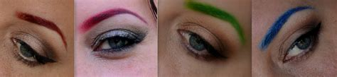 colored brows pictorial how i do my colored eyebrows llewsoba